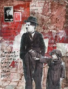 © Christine LE ROY http://www.christine-le-roy.com #mailart #charliechaplin #charlot