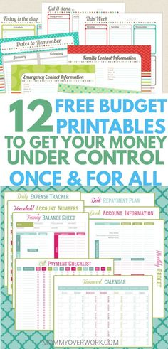 free printable monthly bills organizer stuff to try budgeting