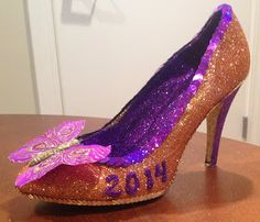 Confessions of a glitter addict: Purple Butterfly Muses Shoe