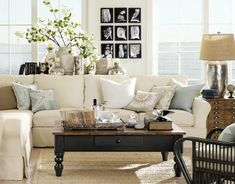 living room decor ideas, home decor, living room ideas, Pottery Barn always delivers the most beautiful spaces Cosy Living, Barn Living, My Living Room, Home And Living, Living Room Decor Pottery Barn, Living Rich, Pottery Barn Style, Cottage Living, Coastal Cottage