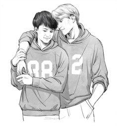 no 'kaisoo' no life ♥ Kaisoo, Kyungsoo, Exo Couple, Cute Gay, Ex Boyfriend, Man In Love, Fan Art, Kpop, Couples