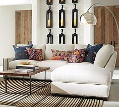 Turner Square Arm Upholstered 3-Piece Bumper Sectional With Nailheads