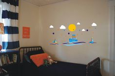 Perfect for a boy's nursery - Sailboats - wide x high for Sailboat Nursery, Sailboats, Vinyl Decals, Wall Art, Home Decor, Sailing Yachts, Decoration Home, Room Decor, Sailboat