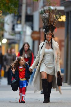 We're loving Padma Lakshmi in the RESERVE boot while trick-or-treating with her daughter Krishna. #inourshoes