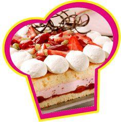 Aardbeien bavarois taart