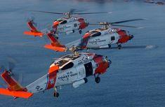 "/""Semper Paratus/"" Mark Karvon Giclee Print USCG HH-65C Dolphin Helicopter"