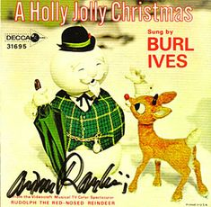 Vintage Christmas Songs ~ 45 rpm of A Holly Jolly Christmas by Burl Ives
