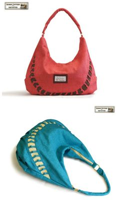 1c43531859 PDF downloadable sewing pattern for a zippered HOBO bag. Hobo Bag Patterns