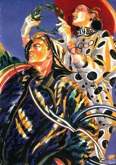 patternprints journal: GREAT FASHION ILLUSTRATORS: ANTONIO LOPEZ FOR MISSONI
