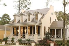 The Eastover Cottage plan has 4 bedrooms and a great front porch