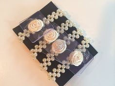 Ivory Pearl Corsage Wristlets (set of four)