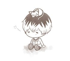 Sasaki Haise chibi, from the sequel of Tokyo Ghoul.