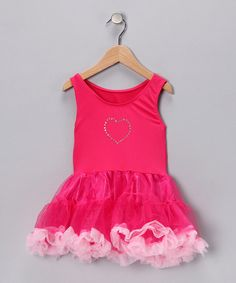 Take a look at this Fuchsia Sparkle Tutu Dress - Girls by Princess Expressions on #zulily today!
