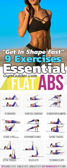 Each of these abs workouts is a mini-circuit you can do at the end of your main workout. The circuits are designed to work the maximum number of muscle fibres as quickly and effectively as possible, sticking to the reps and rest periods detailed. The first move of each circuit is the hardest, then they get progressively easier as the number of reps per move increases. This works your abs harder and places them under greater tension for longer, which is ultimately what stimulates muscle…
