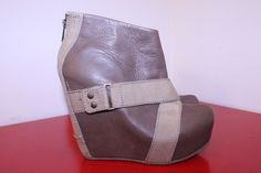 Aldo Shoes 6 Brown Tan Chesnut Leather Buckle Platform Wedge Ankle Booties  #ALDO #AnkleBoots #Casual