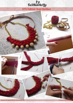 [DIY] Folkloric Braid Necklace... | FashionRolla: [DIY] Folkloric Braid Necklace...