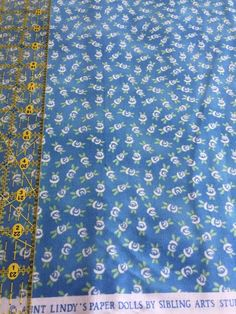 100% cotton 3-5 yards floral fabric roses baby blue white green Blue Hill Fabric #BlueHillFabrics