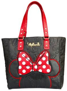 Minnie Mouse Black Embossed Tote
