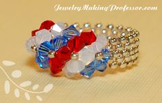 This red, white, and blue ring is perfect for the 4th of July, or any time you want to show your patriotic side.