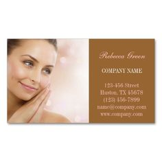 Skin Care facial beauty salon massage SPA Business Card. This is a fully customizable business card and available on several paper types for your needs. You can upload your own image or use the image as is. Just click this template to get started!