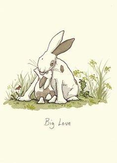 "From Bunny My Honey! ""Big Love"" by Anita Jeram Bunny Art, Cute Bunny, Animal Drawings, Cute Drawings, Anita Jeram, Rabbit Art, Whimsical Art, Cute Illustration, Illustrators"