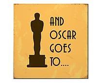 Placa Decorativa And Oscar Goes To - 20x20cm