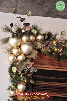 Dec 2019 - Christmas inspiration from decorations to food and everything in-between! See more ideas about Christmas decorations, Christmas inspiration and Christmas. Christmas Doorway Decorations, Christmas Swags, Burlap Christmas, Gold Christmas, Christmas Crafts, Christmas Ornaments, Primitive Christmas, Country Christmas, Christmas Snowman