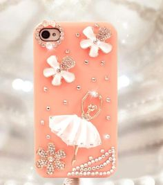 Ballet Girl Hard Plastic Case for Iphone4 and 4s - Apple Accessories - Funny Gadgets Free shipping