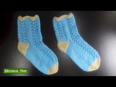 Clase de tejido. Cómo tejer medias o calcetines con dos agujas / palillos paso a paso # 470 - YouTube All Free Crochet, Crochet For Kids, Knit Crochet, Knitting Videos, Crochet Videos, Fox Scarf, Knit Shoes, Slouchy Hat, Slipper Socks