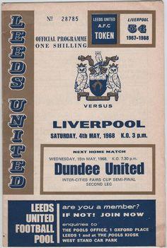 Vintage Football Programme - Leeds United v Liverpool, 1967/68 season, by DakotabooVintage, £3.99