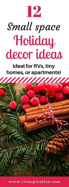 These Christmas and holiday decor ideas will fill your RV, tiny house, dorm room, or apartment with holiday cheer while helping you save storage space the rest of the year. Small Apartments, Small Spaces, Decorating Your Rv, Camper Decorating, Decorating Ideas, Christmas Decorations, Christmas Ornaments, Christmas Ideas, Christmas Inspiration
