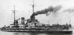 SMS Nassau was the first dreadnought battleship built for the Imperial German Navy, a response to the launching of the British battleship HMS Dreadnought.[2] Nassau was laid down on 22 July 1907 at the Kaiserliche Werft in Wilhelmshaven, and launched less than a year later on 7 March 1908, approximately 25 months after Dreadnought was launched