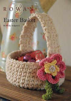 Easter Basket -free crochet pattern-
