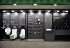 VitrA | Unicera 2017 Vitra Bathrooms, Bathroom Showrooms, Bath Showroom, Kitchen Showroom, Showroom Interior Design, Furniture Showroom, Showroom Ideas, Commercial Design, Commercial Interiors