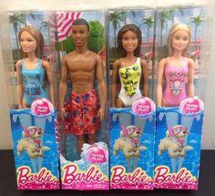 Barbie Water Play Summer Doll Barbie Beach Doll 4 Total Christie Teresa Steven  #Mattel #Dolls