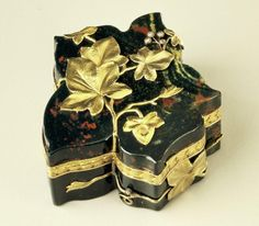 This bloodstone box in the shape of a leaf, made in Fabergé's Moscow workshops, beautifully demonstrates his philosophy of elegant simplicity. The only decoration applied to this delicately formed box are delicate gold leaves and minute diamond berries.