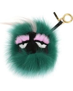 Fendi Monster Fur Charm for Handbag, Green Multi - Fendi from ...
