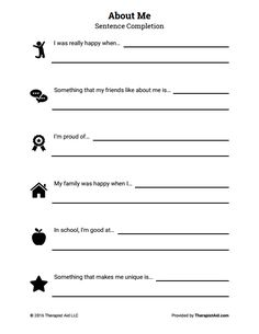 Confidence And Self Esteem Worksheets: 18 selfesteem worksheets and activities for teens and adults pdfs ,