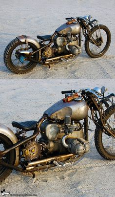 Rat Bobber - very steampunk! Motos Bobber, Bobber Bikes, Bobber Motorcycle, Bobber Chopper, Cool Motorcycles, Vintage Motorcycles, Scrambler, Steampunk Motorcycle, Bmw Boxer