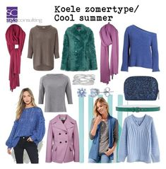 """""""Koele zomertype/ Cool summer color type."""" By Margriet Roorda-Faber, Style Consulting."""