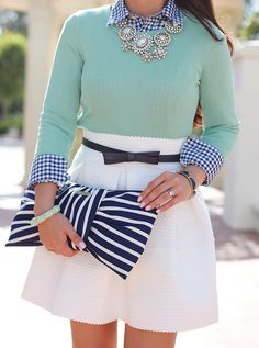 Gingham, Mint and Stripes