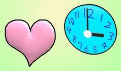 Heart And Clock / ハト (ハートと時計) / #WSVGA