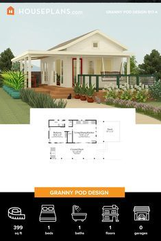 Guest House Plans, Sims 4 House Plans, Cottage Style House Plans, Small House Plans, House Floor Plans, Small Tiny House, Tiny House Cabin, Tiny House Living, Small Homes