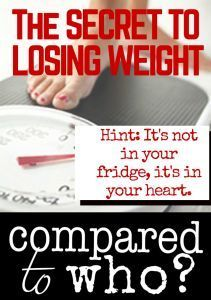 What if the key to losing weight wasn't about food or exercise but about something deep within our hearts. I LOVE this! So encouraging if you want to lose some pounds.