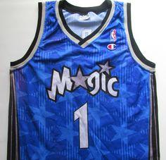 310bc2818cf Details about ORLANDO MAGIC  1 TRACY McGRADY BASKETBALL JERSEY SHIRT  CHAMPION NBA SIZE M MEN S