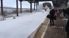 What Happens When an Amtrak Train Hits a Snowbank at the Station   Atlas Obscura