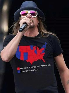 Kidd Rock gets it !!! Let's all pray for the populated BLUE STATES. Otherwise, we are all predominately RED STATES! We are truly a divine RED!!!