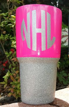 Check out this item in my Etsy shop https://www.etsy.com/listing/448738720/yeti-rambler-rtic-cup-hot-pink-powder