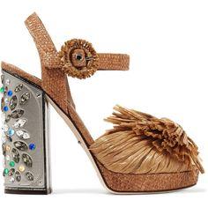 98af84babbbe Gianvito Rossi Cherry crystal-embellished satin sandals (1.875 BRL ...