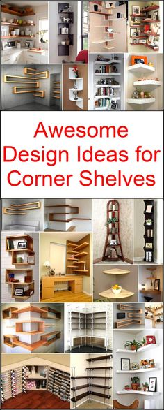 Let's decorate your home in a unique and delightful manner with these thought-provoking corner shelves designs. These awesome designs are easy to craft at own. Now you can easily surprise everyone with your admirable creativity and marvelous decoration of Corner Shelf Design, Diy Corner Shelf, Bookshelf Design, Corner Shelves Bedroom, Corner Shelving, Unique Bookshelves, Floating Shelves Kitchen, Copper Decor, Regal Design